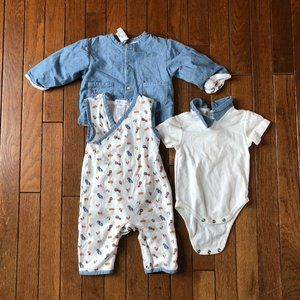 3 Piece Ralph Lauren 6 Month Patriotic Outfit